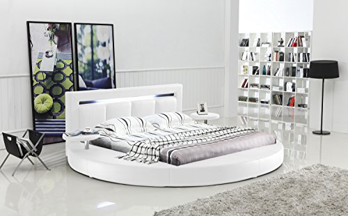 Oslo Round Bed with Headboard Lights