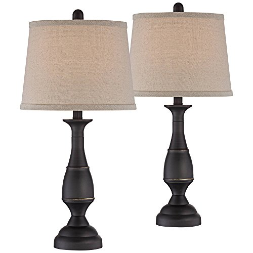 Dark Bronze Traditional Table Lamps