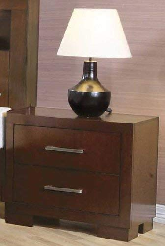 Jessica 2-drawer Cappuccino Nightstand