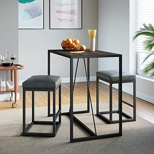 Industrial Counter Height Dining Table for 2