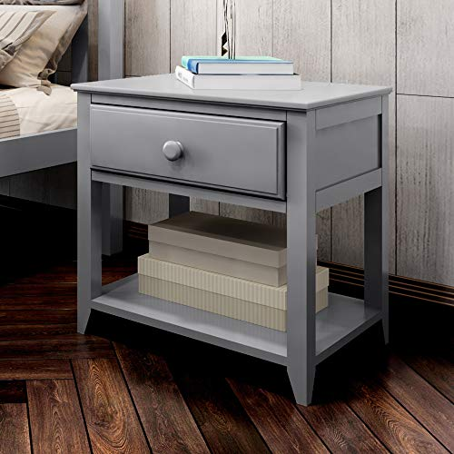 Plank & Beam Nightstand, Grey