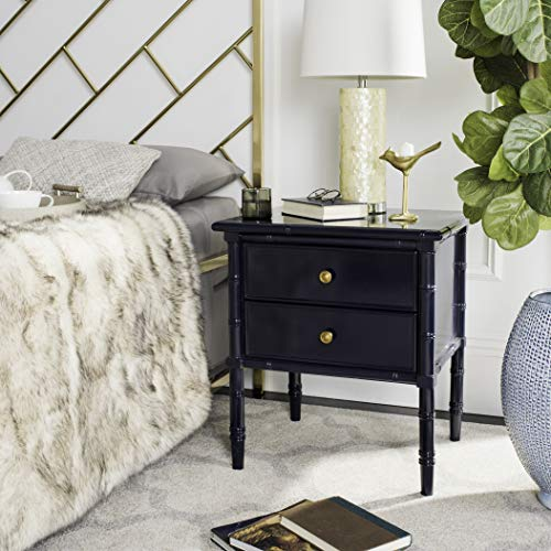 Mina Modern Coastal 2 Drawer Bamboo Nightstand