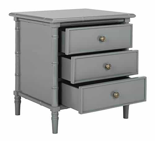 Mina Modern Coastal 3 Drawer Nightstand