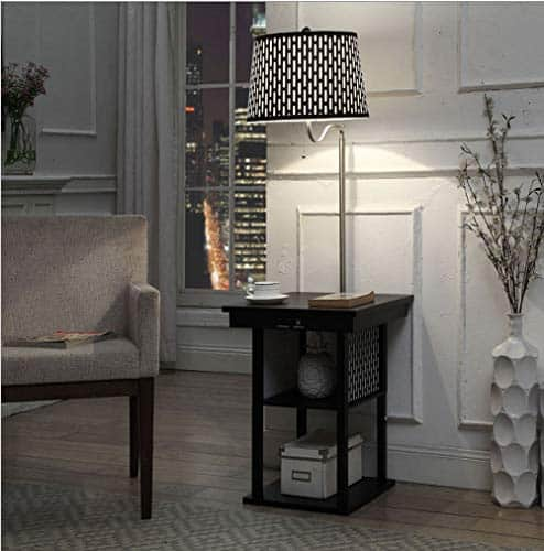 ZOUJUN Side Table Floor Lamp