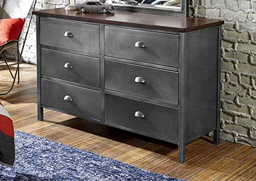 Hillsdale Furniture Urban Quarters 6 Drawer Metal Dresser
