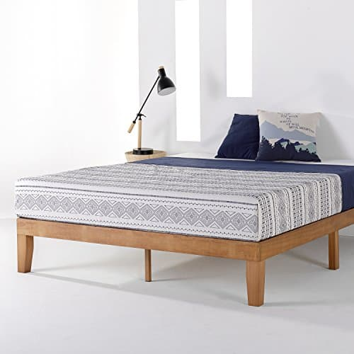 Mellow Naturalista Classic Solid Wood Platform Bed with Wooden Slats