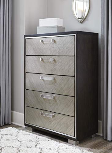 Ashley Maretto Two-Tone Five Drawer Chest