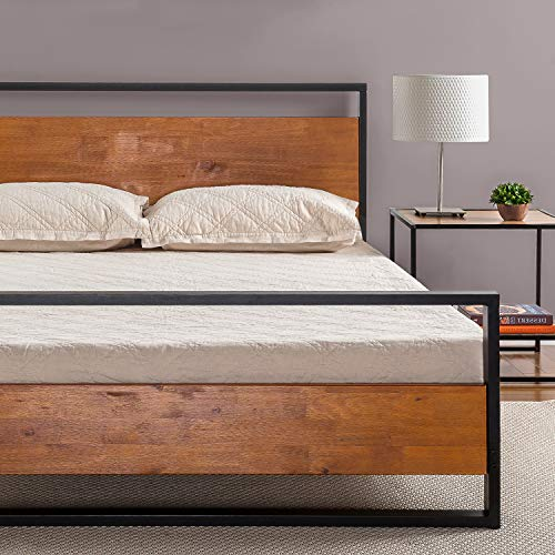 Zinus Suzanne Metal and Wood Platform Bed