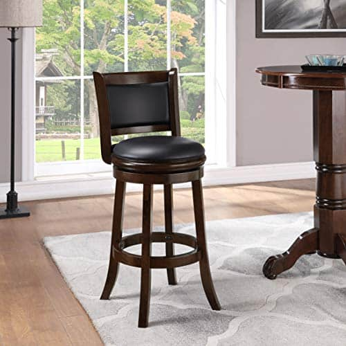 Boraam Cappuccino Augusta 29-Inch Bar Height Swivel Stool