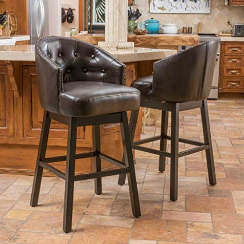 Christopher Knight Home Ogden KD Swivel Barstool (2 piece set)