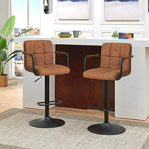 Duhome Adjustable Swivel Bar Stools