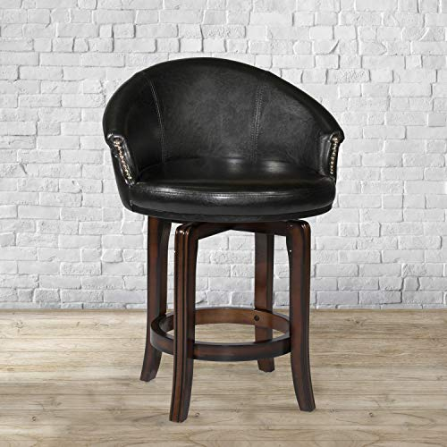 Hillsdale Dartford Dark Brown Cherry Swivel Counter Height Stool