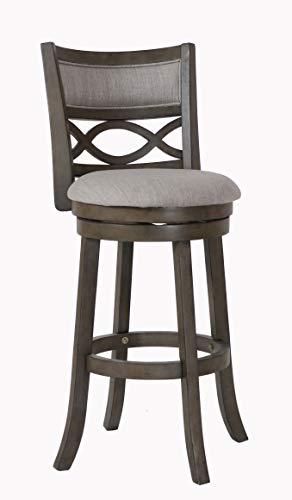Antique Grey 29-Inch Swivel Bar Stool