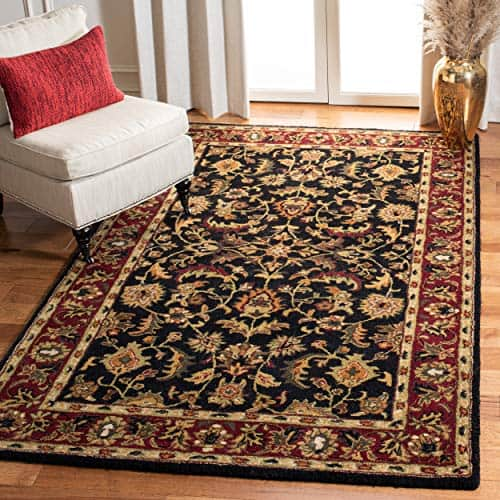 Safavieh Heritage Collection Handcrafted Traditional Oriental Black and Red Wool Area Rug (12' x 18')
