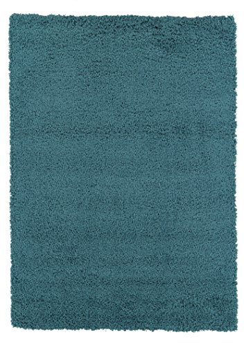 Sweet Home Stores Cozy Turquoise Solid Shag Rug