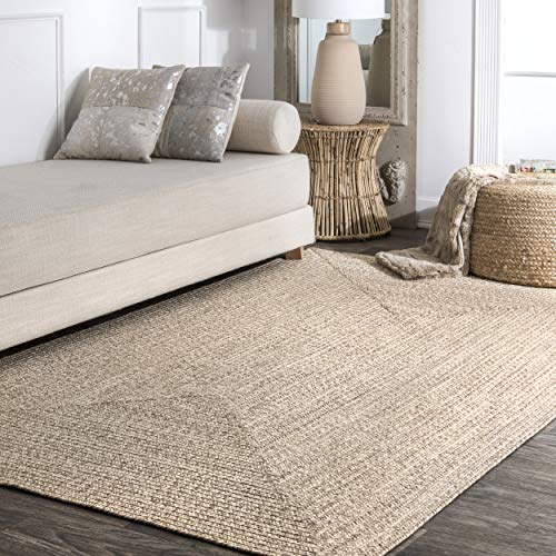 nuLOOM Lefebvre Braided Tan Indoor/Outdoor Area Rug