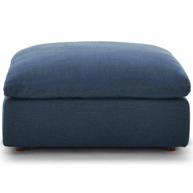 Commix Down Filled Overstuffed 4 Piece Sectional Sofa Set in Azure
