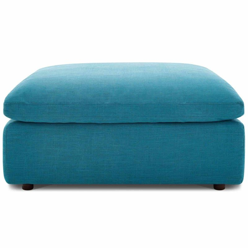 Commix Down Filled Overstuffed 4 Piece Sectional Sofa Set in Teal