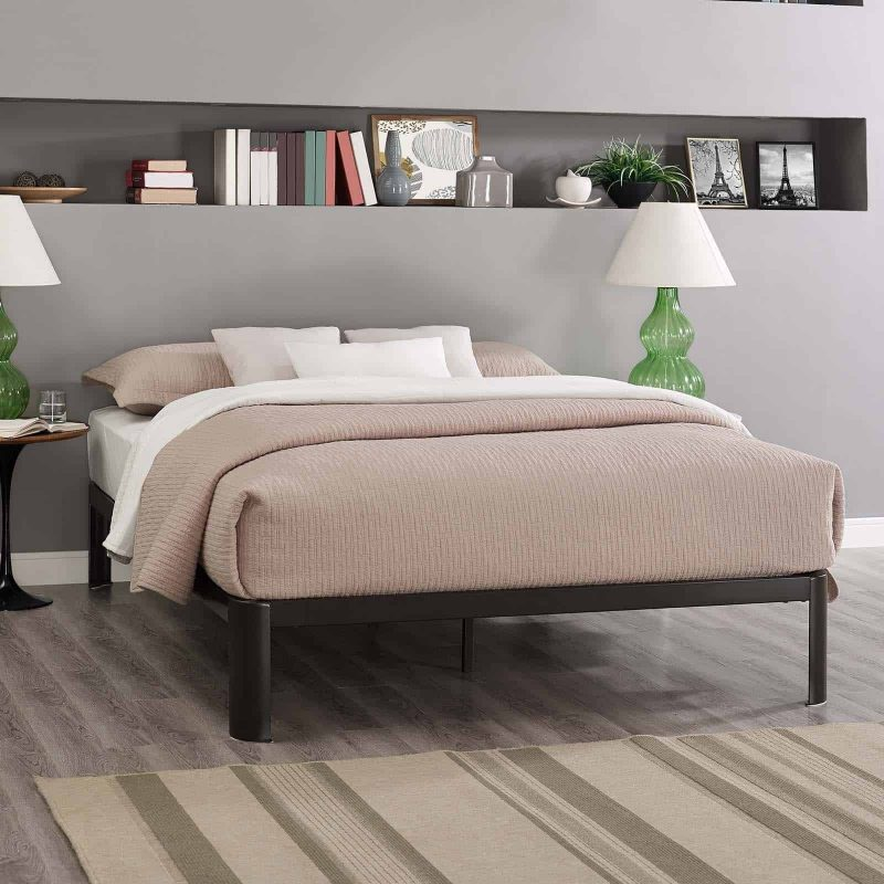 Corinne King Bed Frame in Brown