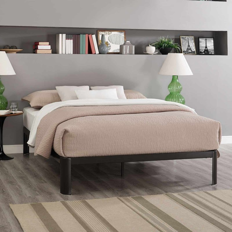 Corinne Queen Bed Frame in Brown