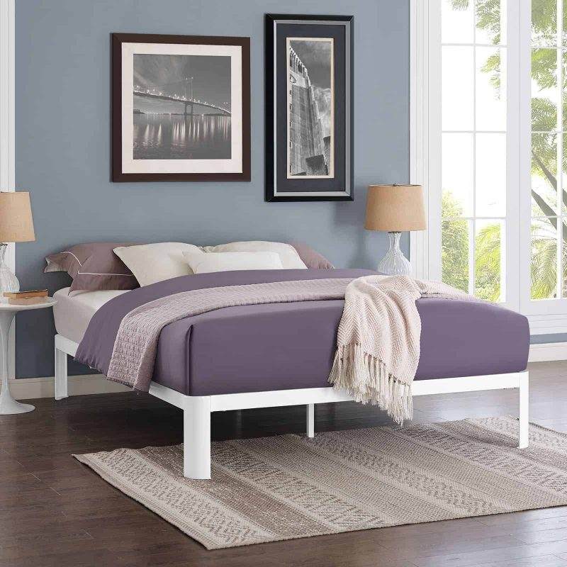 Corinne Queen Bed Frame in White