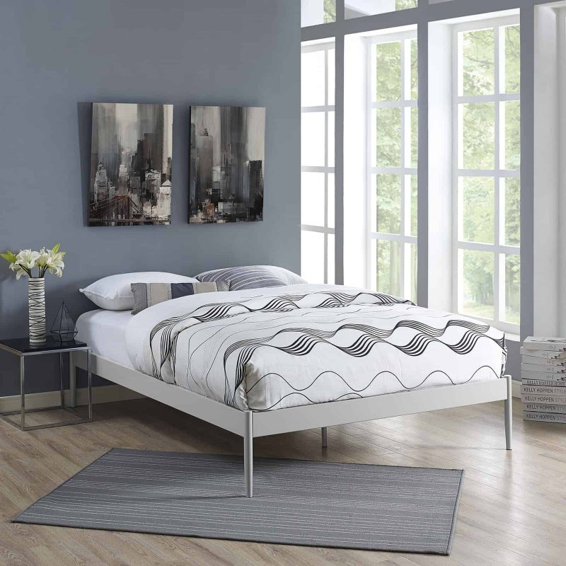 Elsie King Bed Frame in Gray