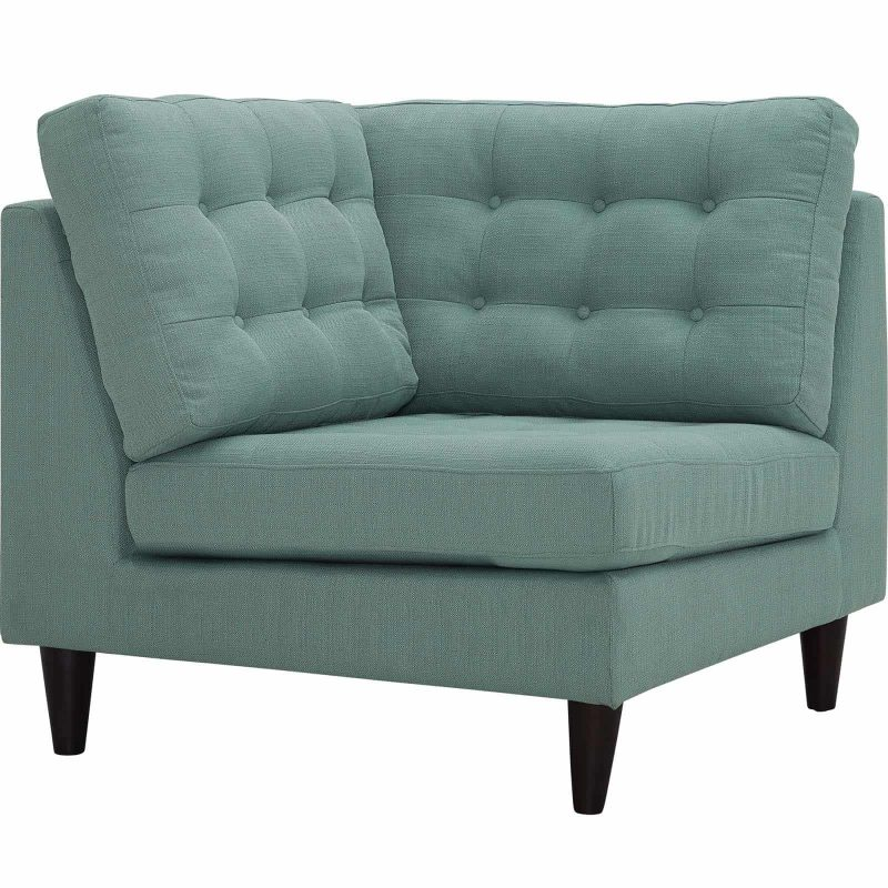 Empress Upholstered Fabric Corner Sofa in Laguna