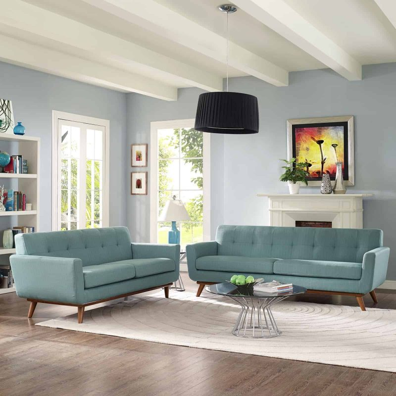 Engage Loveseat and Sofa Set of 2 in Laguna