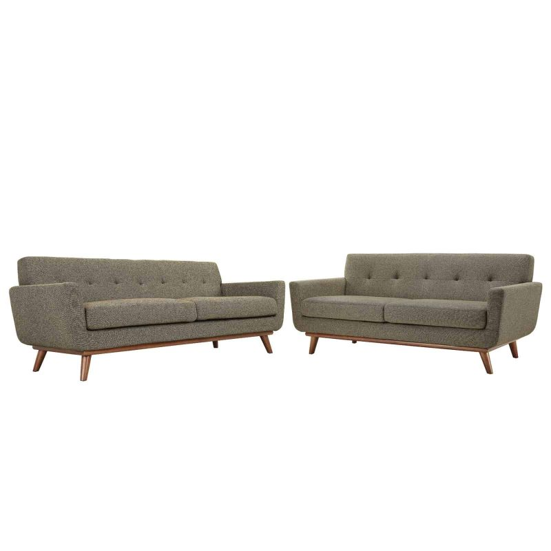 Engage Loveseat and Sofa Set of 2 in Oat
