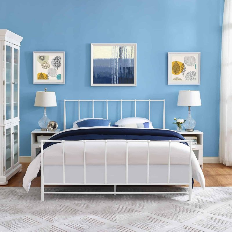 Estate Queen Bed in White