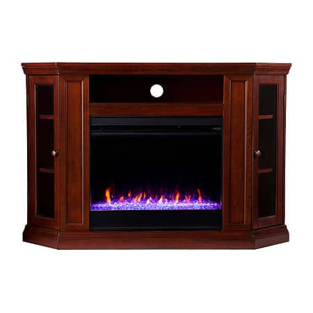 Gadon Color Changing Electric Fireplace, One Size , Brown