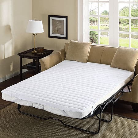 Madison Park Essentials Frisco Micro Fiber Sofa Bed Mattress Pad, One Size , White