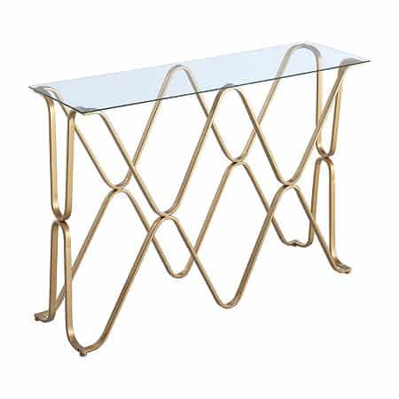 Neptune Console Table, One Size , Yellow