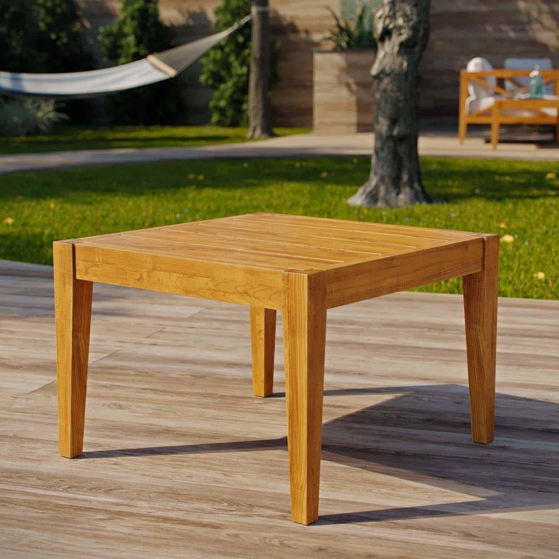Northlake Outdoor Patio Premium Grade A Teak Wood Side Table in Natural