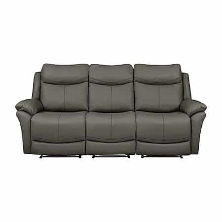 Omar 3 Seat Wall Hugger Recliner Sofa, One Size , Gray