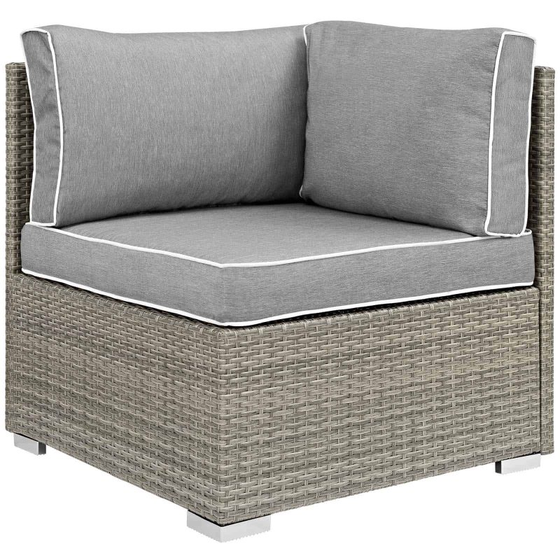 Repose Outdoor Patio Corner in Light Gray Gray