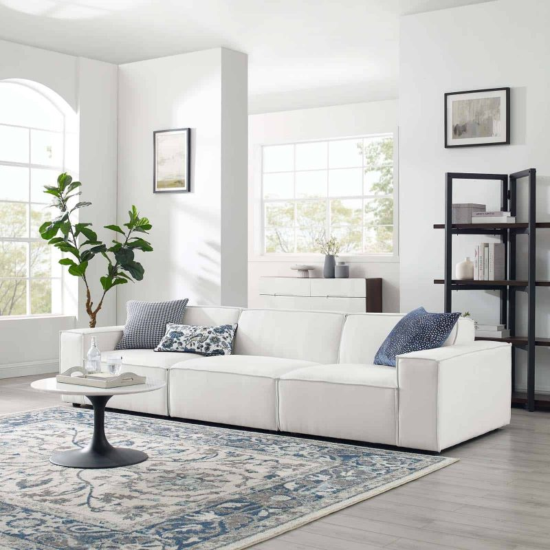 Restore 3-Piece Sectional Sofa in White