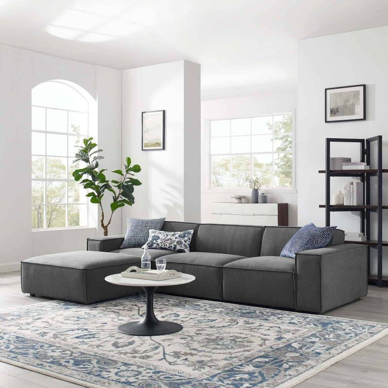 Restore 4-Piece Sectional Sofa in Charcoal