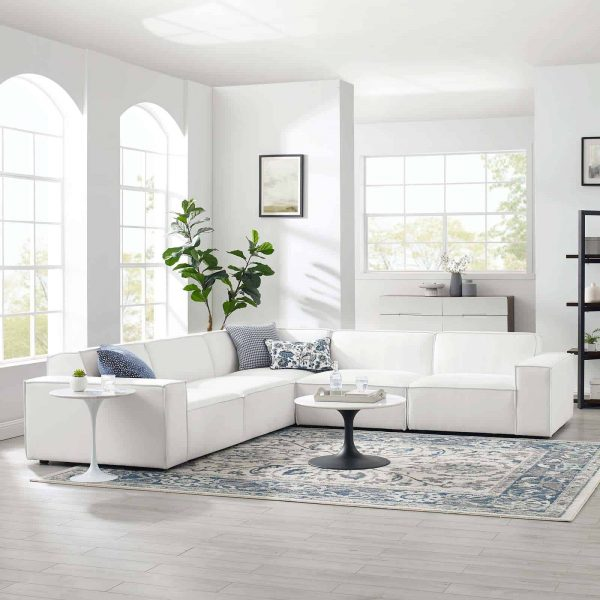 Restore 5-Piece Sectional Sofa in White