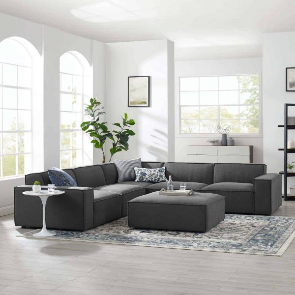 Restore 6-Piece Sectional Sofa in Charcoal