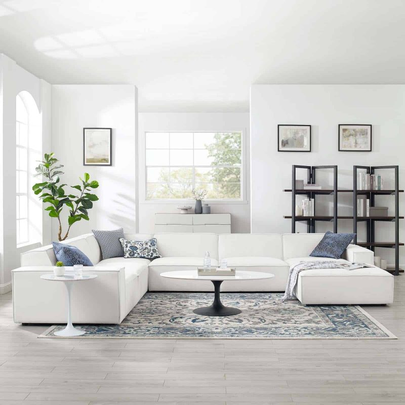 Restore 7-Piece Sectional Sofa in White