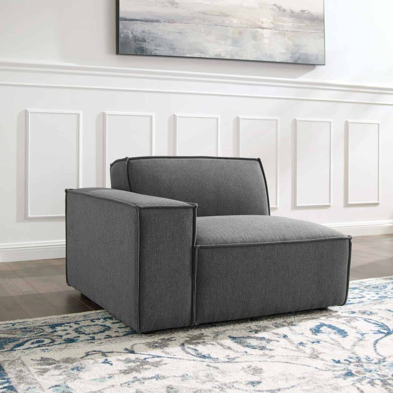 Restore Left-Arm Sectional Sofa Chair in Charcoal