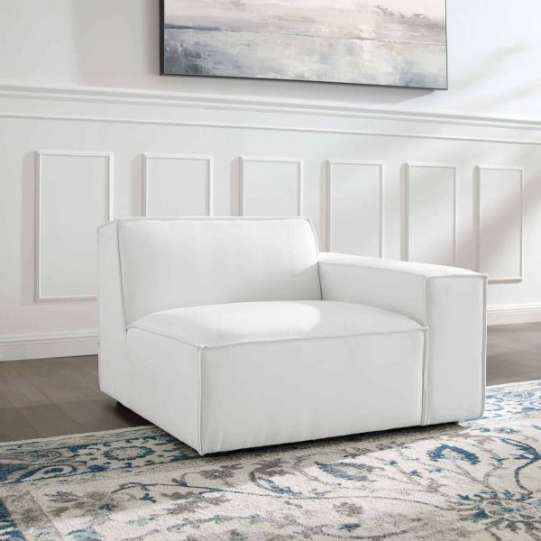 Restore Right-Arm Sectional Sofa Chair in White