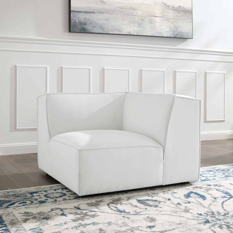 Restore Sectional Sofa Corner Chair in White