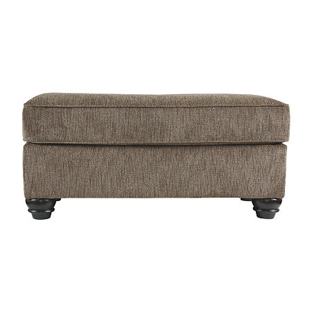 Signature Design by Ashley Braemar Ottoman, One Size , Brown