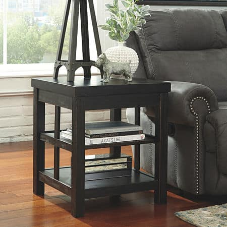 Signature Design by Ashley Gavelston Square End Table, One Size , Black