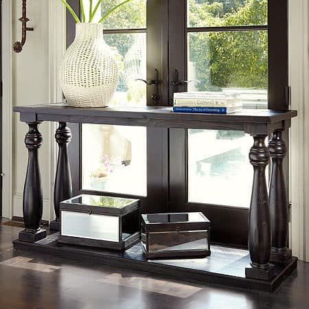 Signature Design by Ashley Mallacar Console Table, One Size , Black