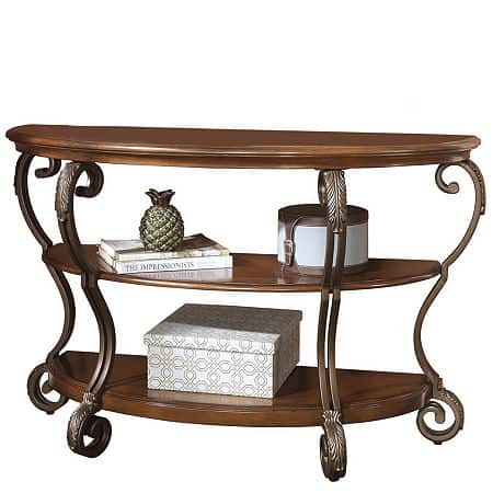 Signature Design by Ashley Nestor Sofa Table, One Size , Brown