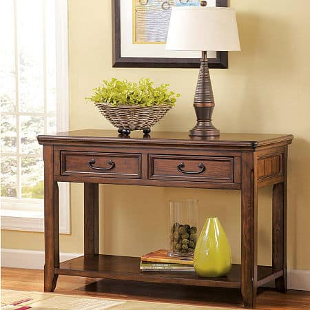 Signature Design by Ashley Woodboro Sofa Table, One Size , Brown