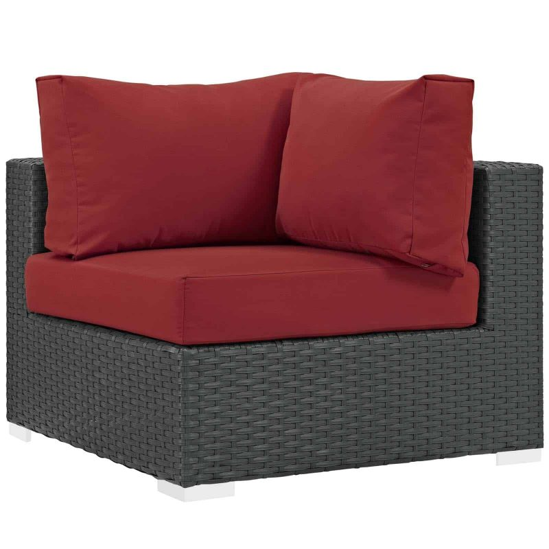 Sojourn Outdoor Patio Sunbrella® Corner in Canvas Red